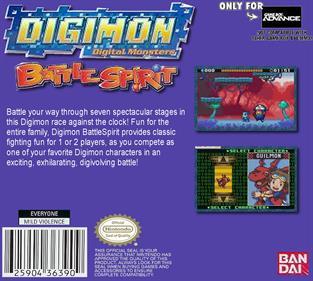 Digimon Battle Spirit - Box - Back