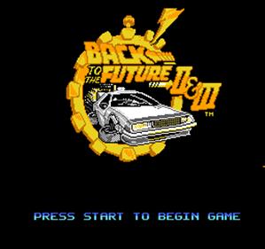 Back to the Future Part II & III - Screenshot - Game Title