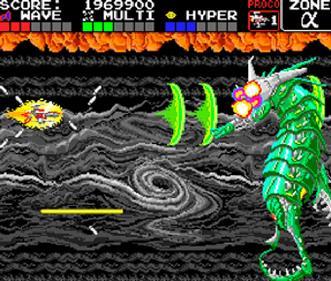 Darius Plus - Screenshot - Gameplay
