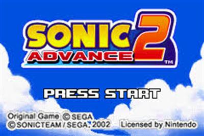 Sonic Advance 2 - Screenshot - Game Title