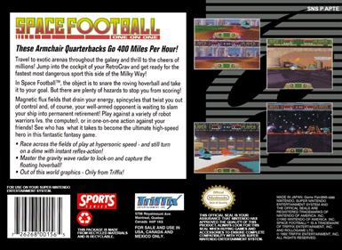 Space Football: One on One - Box - Back