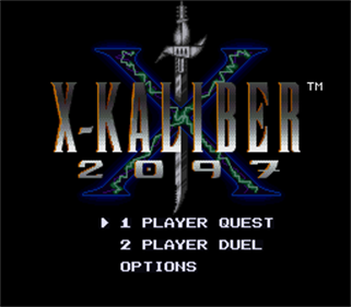 X-Kaliber 2097 - Screenshot - Game Title