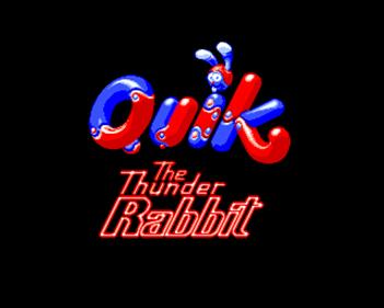 Quik the Thunder Rabbit - Screenshot - Game Title