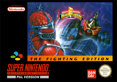 Mighty Morphin Power Rangers: The Fighting Edition - Box - Front