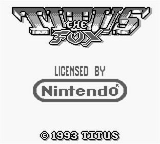 Titus the Fox - Screenshot - Game Title