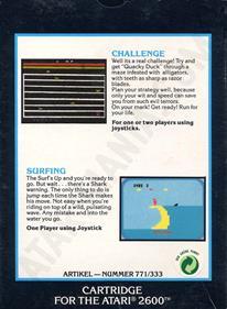 2 Pak Special Black: Challenge / Surfing - Box - Back
