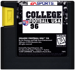 College Football USA 96 - Cart - Front