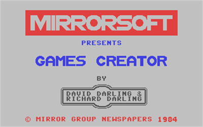 The Games Creator - Screenshot - Game Title