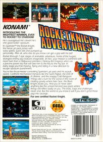 Rocket Knight Adventures - Box - Back