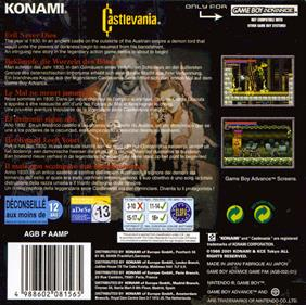 Castlevania: Circle of the Moon - Box - Back