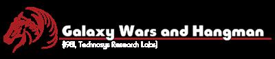 Galaxy Wars and Hangman - Clear Logo