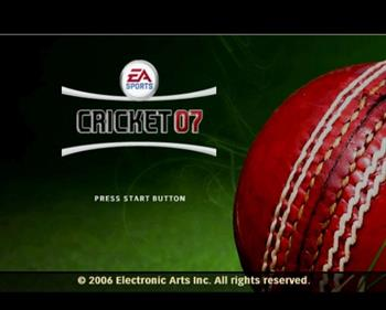 Cricket 07 - Screenshot - Game Title