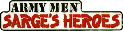 Army Men: Sarge's Heroes - Clear Logo