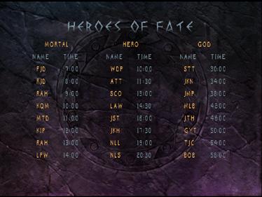 Xena: Warrior Princess: The Talisman of Fate - Screenshot - High Scores