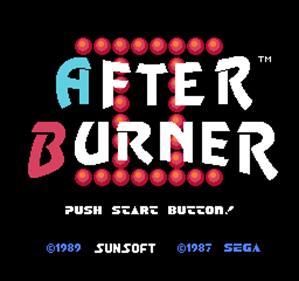 After Burner - Screenshot - Game Title