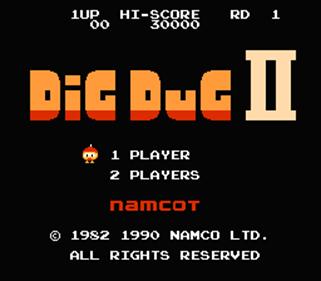 Dig Dug II - Screenshot - Game Title