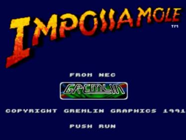 Impossamole - Screenshot - Game Title