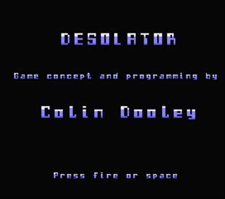 Desolator - Screenshot - Game Title