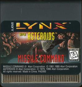Super Asteroids & Missile Command - Cart - Front