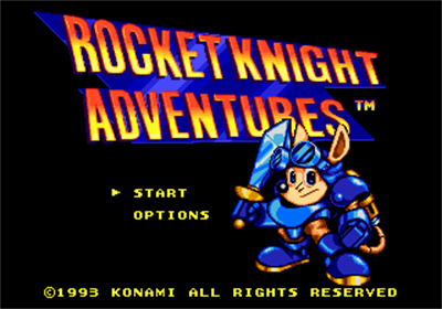 Rocket Knight Adventures - Screenshot - Game Title