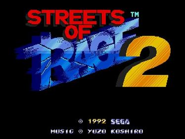 Streets of Rage 2 - Screenshot - Game Title