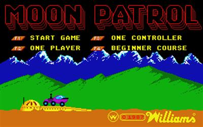Moon Patrol - Screenshot - Game Title