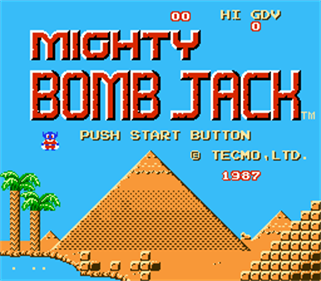 Mighty Bomb Jack - Screenshot - Game Title