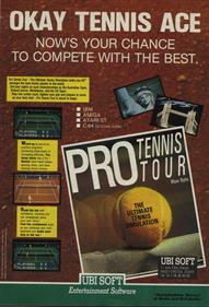 Jimmy Connors Pro Tennis Tour - Advertisement Flyer - Front