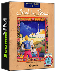 Quest for Glory II: Trial by Fire - Box - 3D