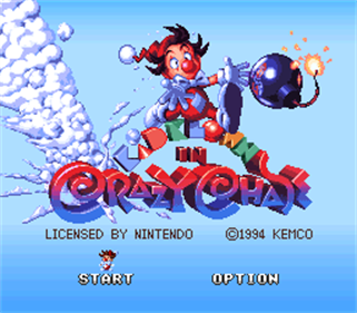 Kid Klown in Crazy Chase - Screenshot - Game Title