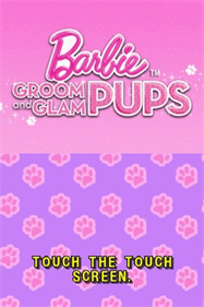 Barbie: Groom and Glam Pups - Screenshot - Game Title