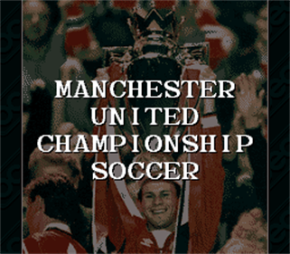 Manchester United Championship Soccer - Screenshot - Game Title