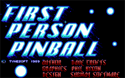 1st Person Pinball - Screenshot - Game Title