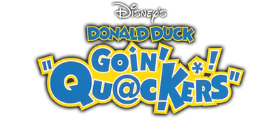 Disney's Donald Duck: Goin' Quackers - Clear Logo