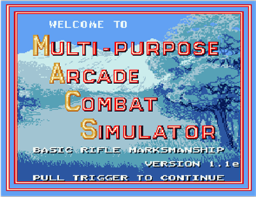 Multi-Purpose Arcade Combat Simulator - Screenshot - Game Title