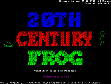 20th Century Frog - Screenshot - Game Title