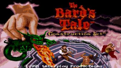 The Bard's Tale Construction Set - Screenshot - Game Title
