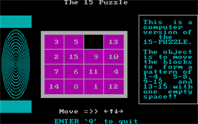The 15 Puzzle - Screenshot - Gameplay