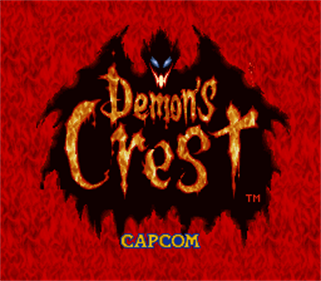 Demon's Crest - Screenshot - Game Title
