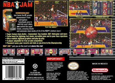 NBA Jam - Box - Back