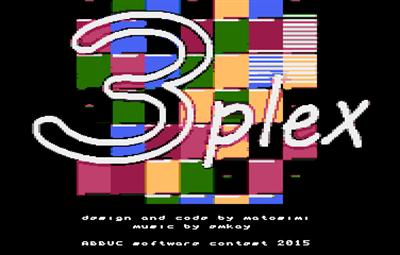 3plex - Screenshot - Game Title