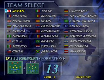 Virtua Striker 2 '99 - Screenshot - Game Select