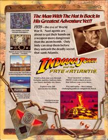 Indiana Jones and the Fate of Atlantis - Box - Back