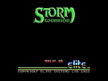 Storm Warrior (Encore) - Screenshot - Game Title