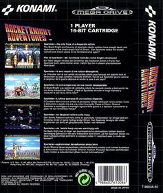 Rocket Knight Adventures - Box - Back