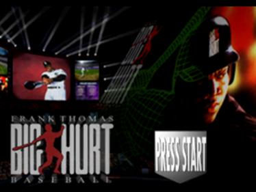 Frank Thomas Big Hurt Baseball - Screenshot - Game Title
