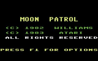 Moon Patrol (Atarisoft) - Screenshot - Game Title