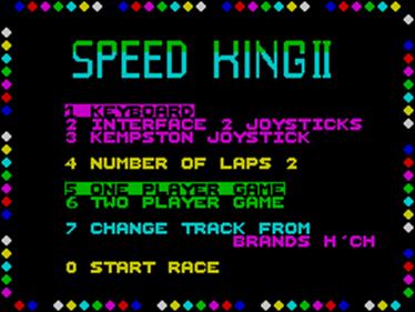 Speed King 2 - Screenshot - Game Select