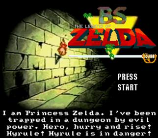 BS Zelda: Restoration (Map 1) - Screenshot - Game Title