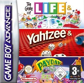 3 Game Pack!: The Game of Life + Payday + Yahtzee - Box - Front